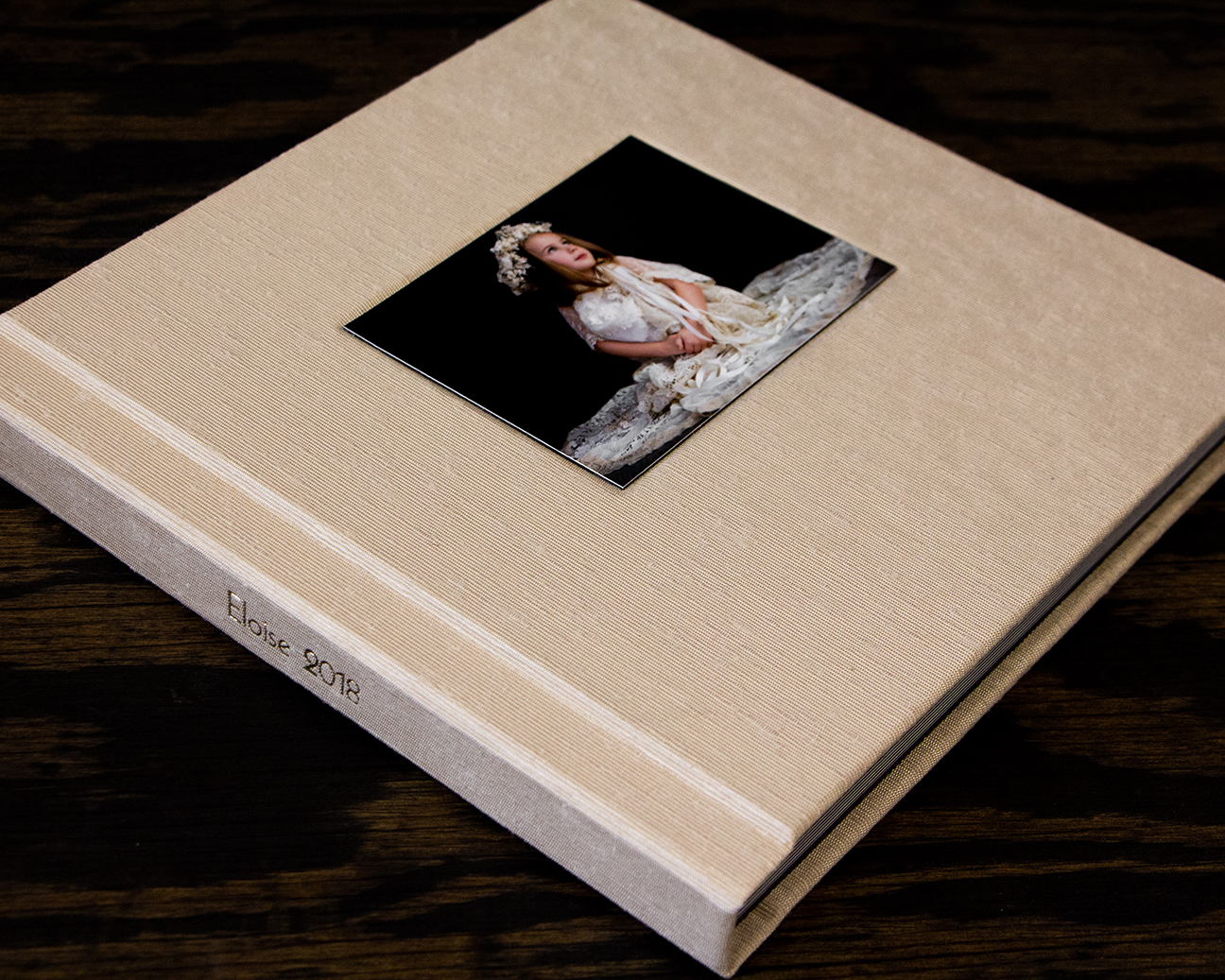Horizontal Spine Imprinting In Modern Font With Cover Photo No Liner Optical Center I © Angela Weedon